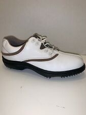 Footjoy Comfort Leather Golf Shoes - White Brown ( Size 8.5 ) M - 98315 Women`S