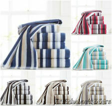 Luxury Stripe 100% Cotton Towel Sets Super Soft Bath Sheets Bath Towels