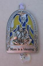 Gd Mom is a blessing Nativity Stained glass look Christmas Tree Ornament Ganz
