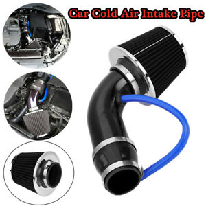 Car Truck Cold Air Intake Filter Induction Pipe Hose Aluminum Alloy Universal