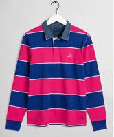 New Gant Heavy Rugger Rugby Shirt XL Crisp Blue Cotton Long Sleeve Preppy