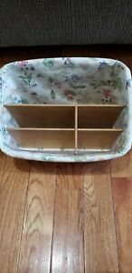Longaberger Large Organizer Basket with plastic and cloth liner. Excellent cond
