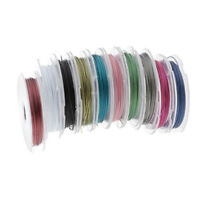 10 Rolls 0.45mm Jewelry Beading Wire for Jewelry Making 10 Assorted Colors