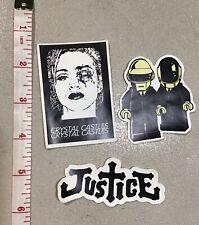 Justice Daft Punk Crystal Castles Laptop Locker Sk8 Stickers