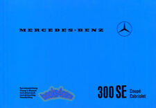 300SE MERCEDES OWNERS MANUAL COUPE CONVERTIBLE CABRIOLET W112 OWNER 300 SE