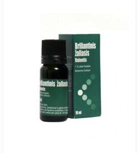 Brilliant Green 10 ml Antiseptic 1% Alcohol Solution Зелёнка Zelenka