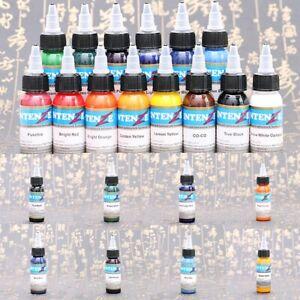 Professional Tattoo Ink Monochrome Practice Set 30ml Bottle Pigment 14 Color Kit
