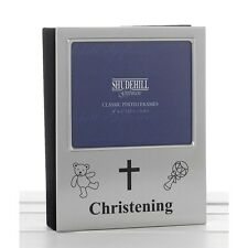 christening satin silver occasion picture album photo photograph frame gift
