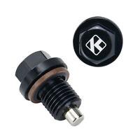 Universal M14x1.5 Engine Magnetic Oil Pan Drain Plug Screw Nut Bolt Washer Black