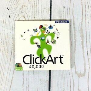 Brøderbund ClickArt 40,000 3 CD's - Click Art Window 95- Vintage