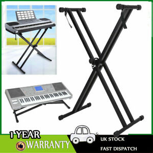 Keyboard Stand X Frame Folding Height Adjustable For Yamaha Casio Piano UK LOCAL