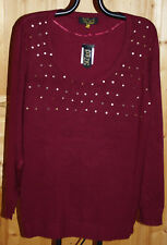 Longboard Long Pull Viscose  BORDEAUX sequins  52/54 ou 56/58 neuf