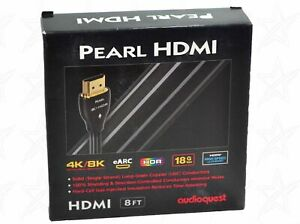 Audioquest Pearl HDMI with Ethernet 3D Ultra HD 4K/8K ARC HDCP 2.2 Cable 8-FT