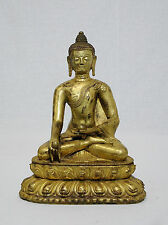 Chinese  Gilt  Bronze  Buddha  Figure      M993