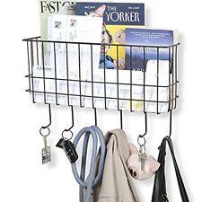 Unique Metal Wire Basket Wall Mounted Foyer Organizer Mail Sorter Key