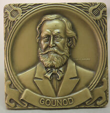 CLASSICAL MUSIC/ French Composer CHARLES GOUNOD Bronze Medal