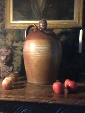 More details for english antique large striking stoneware flagon or lamp base candle stand 17 ins
