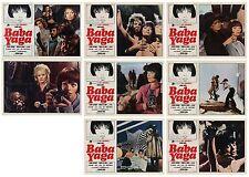 BABA YAGA LOTTO FOTOBUSTE 6+SOGG. CARROLL BAKER CREPAX VALENTINA 1973 LOBBY CARD