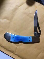 Frost Cutlery blue bone, vintage, single blade pocket knife Nice Lockback