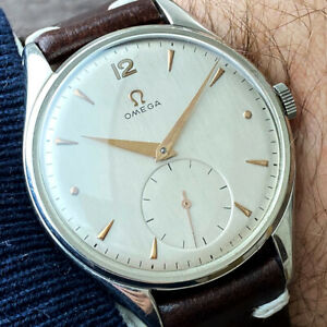 OMEGA BIG JUMBO 2505 CAL.266 OVERSIZED Stainless Steel MEN'S WATCH FROM 1955's