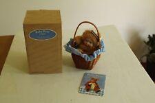 """Anne Geddes """"Baby Bear"""" in Basket Nib- Collectible"""