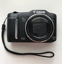 Canon PowerShot SX160 IS 16.0 MP Digital Camera - Black + 8 GB SD Card