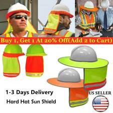 Construction Safety Hard Hat Neck Shield Helmet Sun Shade Reflective Cover US