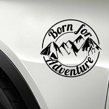 1x Born For Adventure SUV Off Road Truck Mountain Silhouette Car Sticker Decor