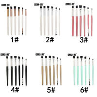 6pcs Makeup Brushes Blending Eye Shadow Dual Blusher Soft Kabuki face