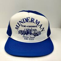 Vintage Minderman Oil Gas Texas USA Mesh Trucker Hat Snapback Cap NWOT