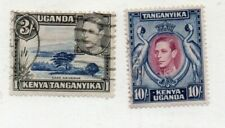 2 Very nice Kenya Uganda & Tanganyika George VI 3/- & 10/- issues