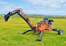 Venom backhoe / mini excavator trencher towable by Rock Machinery
