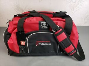 NWT Ogio Big Dome Duffle Bag Gym Travel Bag Red and Black
