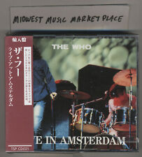 The Who - Live In Amsterdam 2CD - Rare OOP Japan Import - MINT & Sealed - Tommy!