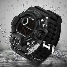 Mens LED Digital Date Alarm Waterproof Sports Military Army Quartz Wrist Watch