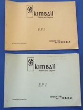 ELKA Kimball Pianos & Organs Schematic Diagrams and Spare Parts Catalogue EP 1