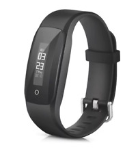 MPOW D6 Smart Fitness Tracker Heart Rate Sleep Monitor  -  BLACK