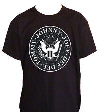 Fm10 T-Shirt Child Ramones Johnny Tommy Print Silver Music
