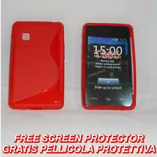 Pellicola+Custodia cover case WAVE ROSSA per LG T385 T375 T395 SMART COOKIE (B8)
