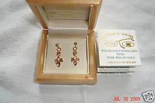 Cymru y Metel Welsh Gold Lovespoon Earrings Inlaid with Pure Welsh Gold RRP £360