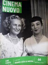 Cinema Nuovo 66 1955 Velta Line e Maciko Kio. Thomas Mann. Neorealismo [C52]