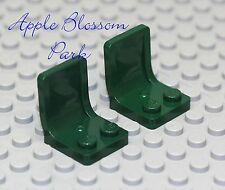 NEW Lego Lot/2 DARK GREEN MINIFIG CHAIRS 4 Kitchen Table -Car/Truck/Vehicle Seat