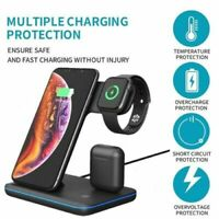 3 in 1 15W Fast Qi Wireless Charger For iPhone X XS Max Xr 8 Plus +iWatch Airpod