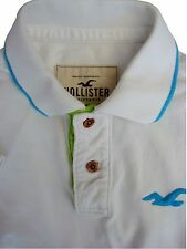 HOLLISTER Polo T-Shirt Mens S White SHORT SLEEVE