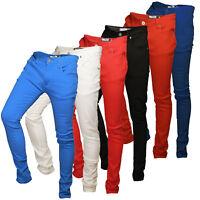 Soulstar Deo Mens Skinny Jeans Designer Coloured Stretch Slim Fit Denim Trousers