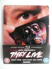 John Carpenter's They Live (Blu-ray, 2014) Roddy Piper, Keith David, STEELBOOK