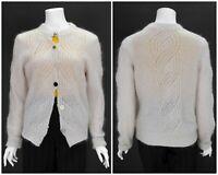 Womens Filippa K Mohair Wool Knit Cardigan Sweater Pink Button Size M