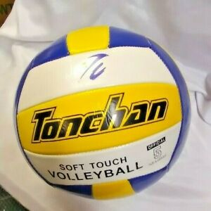 Ton Chan  Volley Ball all season White, yellow and Blue Outdoor Play New size 5