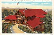 Co, Colorado Pa-Ha-Ska Tepee, Buffalo Bill Museum-Lookout Mtn 1937 Postcard