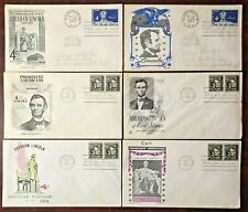 Lot of 6 (six) Vintage 1959 Abraham Lincoln US Postage First Day Stamp Covers